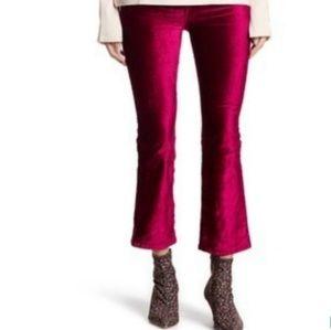 New !! Free People Velvet Crop Pants size 26 (2)